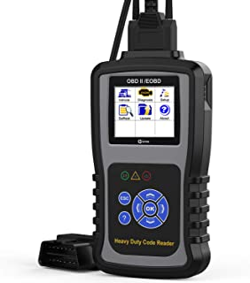 Kzyee KC601 Heavy Duty Scan Tool, HD Truck Diagnostic Scanner Transmission DPF Code Reader/Eraser with Live Data/ECU Info for J1587/J1708 J1939 Class 8 Diesel Trucks