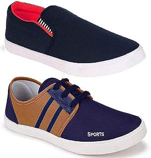 WORLD WEAR FOOTWEAR Men's Multicolor (487-5014) Casual Sneaker Loafer Shoes