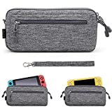 Sisma Lightweight Carrying Case for Nintendo Switch or Switch Lite Console, Travel and Storage Pouch Protective Cover - Grey