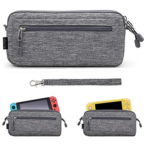 Funda ligera para Nintendo Switch o Nintendo Switch Lite - Sisma Estuche de transporte para guardar 5 juegos - color gris