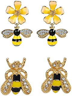 Best bee and flower earrings Reviews