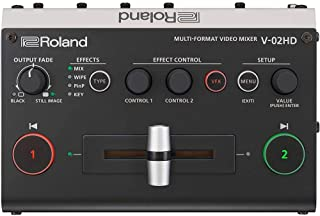 Roland V-02HD PAC2 Micro Video Switcher Mixer Bundle with BOSS FS-6 Dual Footswitch, 2 HDMI Cables & 1/4-inch TS Phone Cable