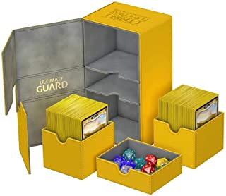 Ultimate Guard - Deck Box: Twin Flip N Tray Xenoskin 200 Amber