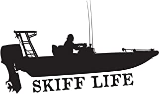Skiff Life Flats in Shore Fishing Decal Stickers