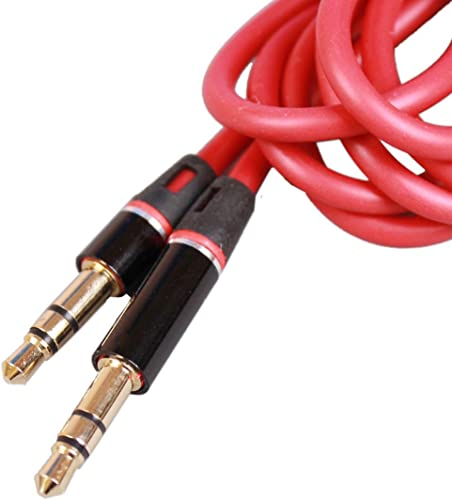 """popular ANices lowest 2021 RED Premium 3.5mm 1/8"""" car aux Audio Cable Cord for Brookstone Soundshield Headphone outlet sale"""