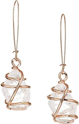 Caged Stone Drop Earrings