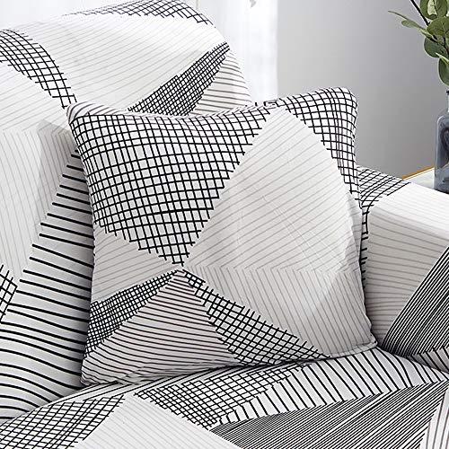 ChicSoleil Sofa Überwürfe 1/2/3/4 Sitzer Sofabezug Stretch elastische Sofahusse Sofa Abdeckung mit modern Muster Schonbezug Spannbezug für Sofa Couch Sessel