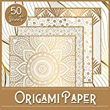 Origami Paper: Booklet of 50 sheets - Format 21 cm x 21cm - 8,5inch x 8,5inch - (5 models x 10 sheets) - Children and adults - Luxury Theme