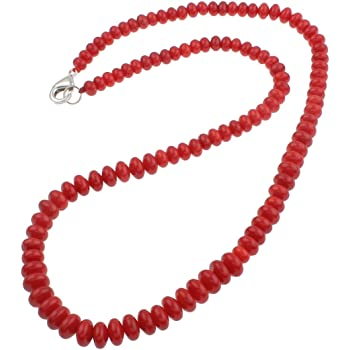Treasur Stunning 120cm Natural Red Coral Beaded Necklace