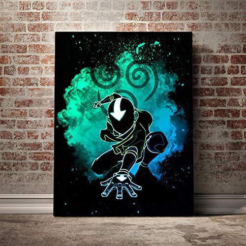 wZUN Arte de Pared Lienzo Avatar The Last Airbender Pintura HD Impresiones póster imágenes de Dibujos Animados japoneses 60x90 Sin Marco