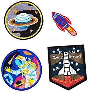 4 Pack JDgoods I Want To Leave UFO Patches - Astronaut Patch - Trust No One Patch Embroidered Sew or Iron on Patch (C)