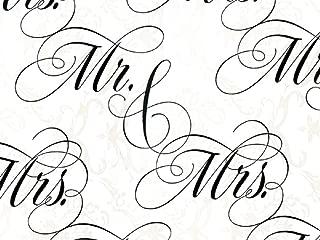 Newlyweds Mr. & Mrs. Wedding Gift Wrapping Paper Flat Sheet - 24