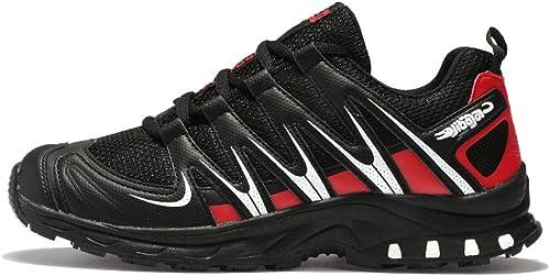 Chaussures de randonnée Chaussures de Course Cross-Country à Absorption de Choc antidérapante Chaussures de Marche Chaussures de randonnée pour Hommes en Plein air-rouge-44