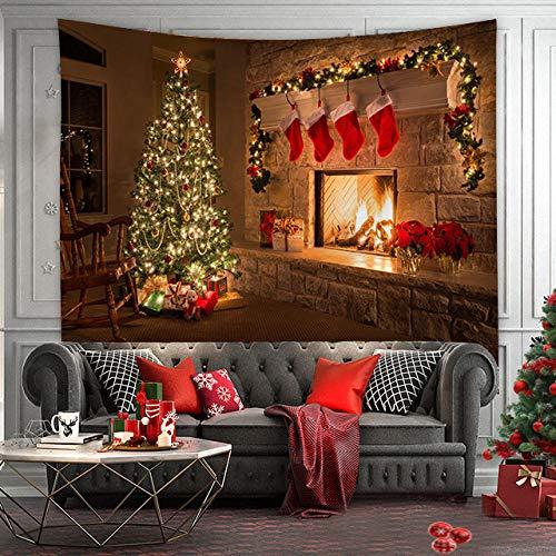 WEMAO Paño de Fondo de Navidad Decoración navideña Fondo Paño de Pared Decoración del hogar Tapiz Mural Dormitorio Paño colgante-230x180cm