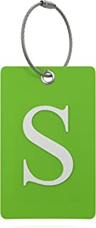 Luggage Tag Initial – Fully Bendable Tag w/Stainless Steel Loop (Letter S)