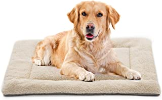 INVENHO Dog Bed Mat Comfortable Soft Crate Pad Anti-Slip Machine Washable Pad Dog Crate Pad Pet Bed for Dogs & Cats