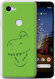 eSwish Gel TPU Phone Case/Cover for Google Pixel 3a / Rex Dino Inspired Design/Cute Toy Characters Collection