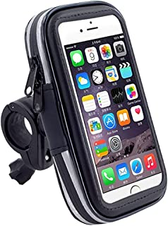 MEGICOT 360 Degrees Rotatable Waterproof Bike Bicycle Phone Mount Holder with Transparent Touchable Phone Case for Smartph...