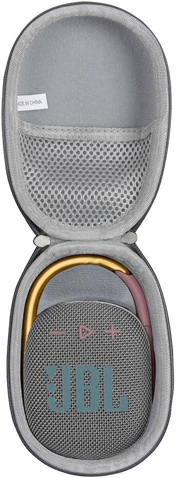 Anleo Hard Travel Case for JBL Clip 4 - Portable Mini Bluetooth Speaker (Gray)