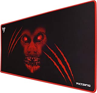 VicTsing [30% Larger] Extended Gaming Mouse Pad with Stitched Edges, Long XXL Mousepad (31.5x15.7In), Desk Pad Keyboard Mat, Non-Slip Base, Water-Resistant, for Work & Gaming, Office & Home
