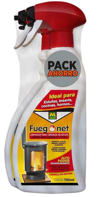 FuegoNet Limpiador para cristales de estufas Pack 2x750 ml: Amazon ...