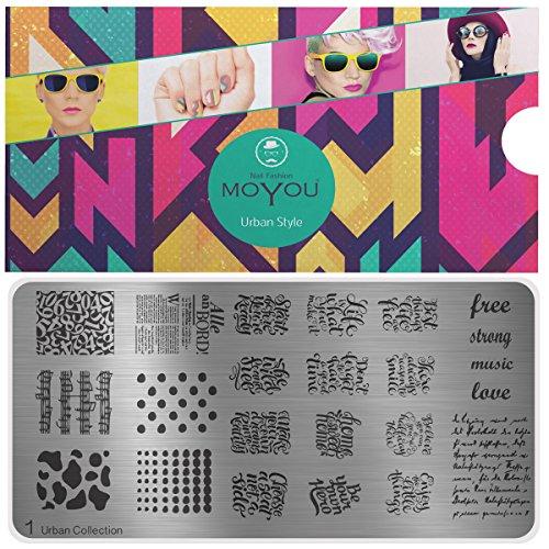 MoYou's XL Urban sjabloon, collectie 1, kalligrafie, cijfers, complete ontwerpen
