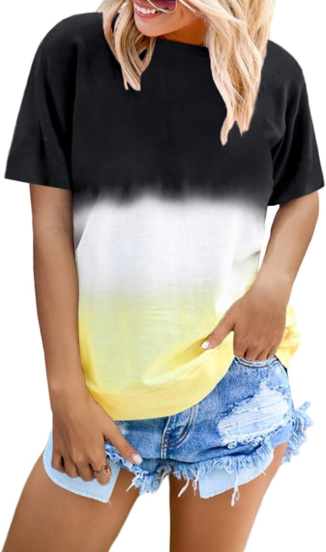 Happy Sailed Womens Tie Dye Printed Hoodies Tops Long Sleeve Drawstring Pullover Sweatshirts with Pocket(S-XXL)