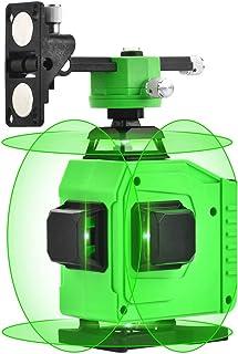 4X360°クロスラインレーザーレベリング、4Dセルフレベリング16ライングリーンビーム4面レーザー2x360°垂直2x360°水平ライン、強力な光高精度レベリング機器