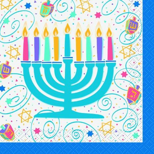 Festive Hanukkah - Lunch Napkins Party Accessory