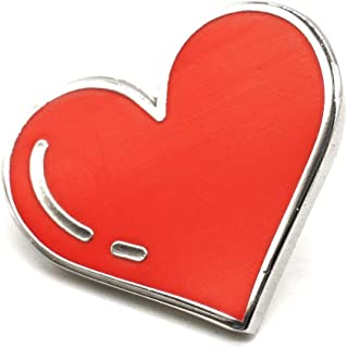 Compoco Red Heart Love Enamel Pin Decoration for Clothes Bags and Hats