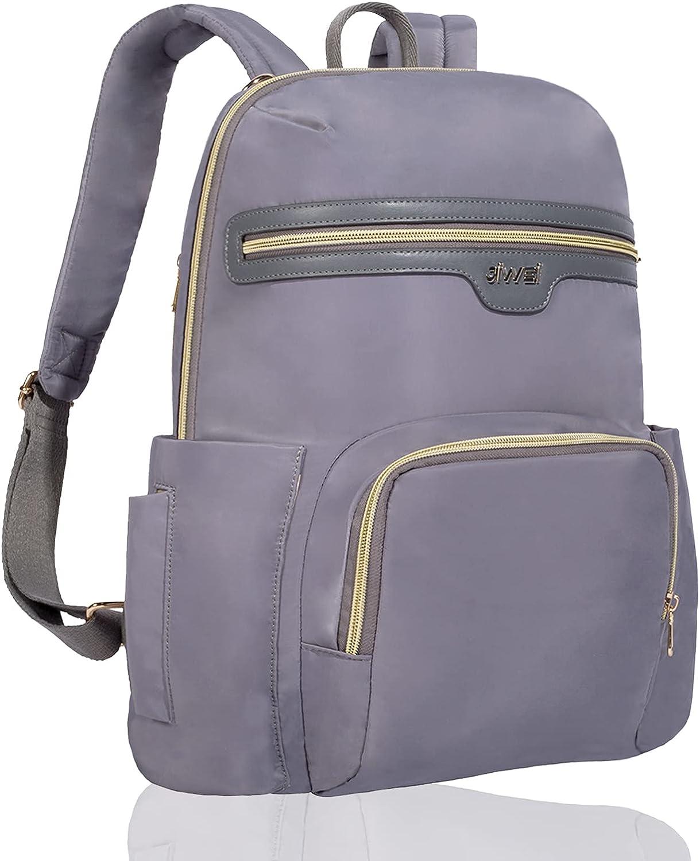 Diaper Bag Backpack, JIWEI Diaper Bags,Diaper Bag Tote for Mom Dad Boys Girls,Multifunction Waterproof Travel Diaper Back Pack for Daily Camping Picnic (Grey)