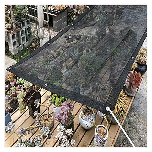 Telas para toldos Tela De Sombra Al Aire Libre con Cordón Y Ojal, 85% De Protección UV Paño Solar, Jardín Pet Planta Piscina, Toldo del Jardín, Negro (Size : 1x1.5m)
