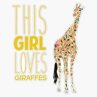 Giraffe Animal Novelty Cute Decal Vinyl Sticker Car Van Laptop Glass Wine Wall