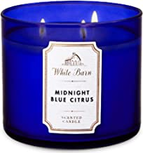 Bath And Body Works White Barn Midnight Blue Citrus Scented 3-Wick Candle with Essential Oil, 411 g