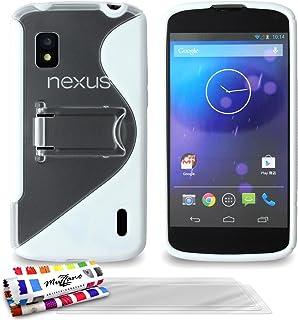 ' Muzzano 保护套适用于 Lg Nexus 4 白色3D屏保 White + 3 Screen Protectors