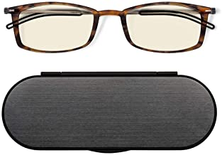 ThinOptics Frontpage Blue-Light Blocking Computer Reading Glasses and Milano Aluminum Case