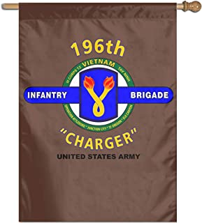 ZHENGKAIWENqizi 196 Infantry Brigade Vietnam Garden Flag Outdoor Flags House Decorative Flag 27