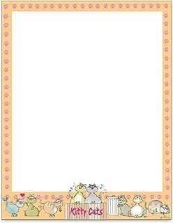 Cat Stationery - 8.5 x 11 - 60 Letterhead Sheets - Cat Printer Paper - Invitation - Laser & Inkjet