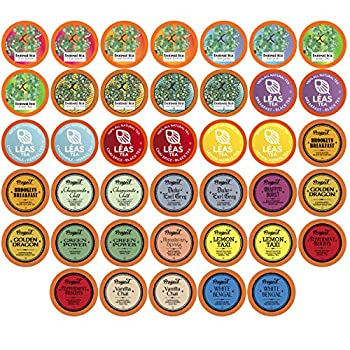Two Rivers Assorted Tea Sampler Variety Pack for Keurig K-Cup Brewers 40 Count
