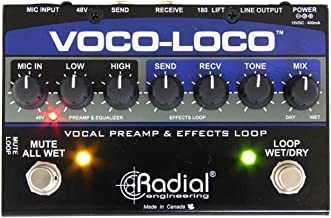Radial Voco Loco Microphone Effects Loop Switcher for Guitar Effects