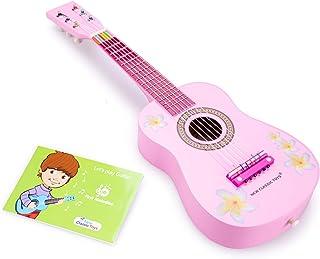 New Classic Toys Toys-10348 Guitarra para niños (NCT-0348) (Importado), Color Azul con Notas Musicales