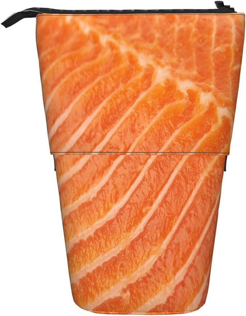OcuteO Detroit Mall Orange Max 74% OFF Salmon Fish Texture Pencil Cas Food Sockeye Novely