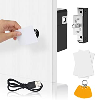 TAKHRWOD Electronic Cabinet Lock, with USB Hidden Magnetic Lock and RFID Locks for Hidden Gun Cabinets Wooden Pantry Cabin...