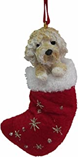 Goldendoodle Christmas Stocking Ornament with