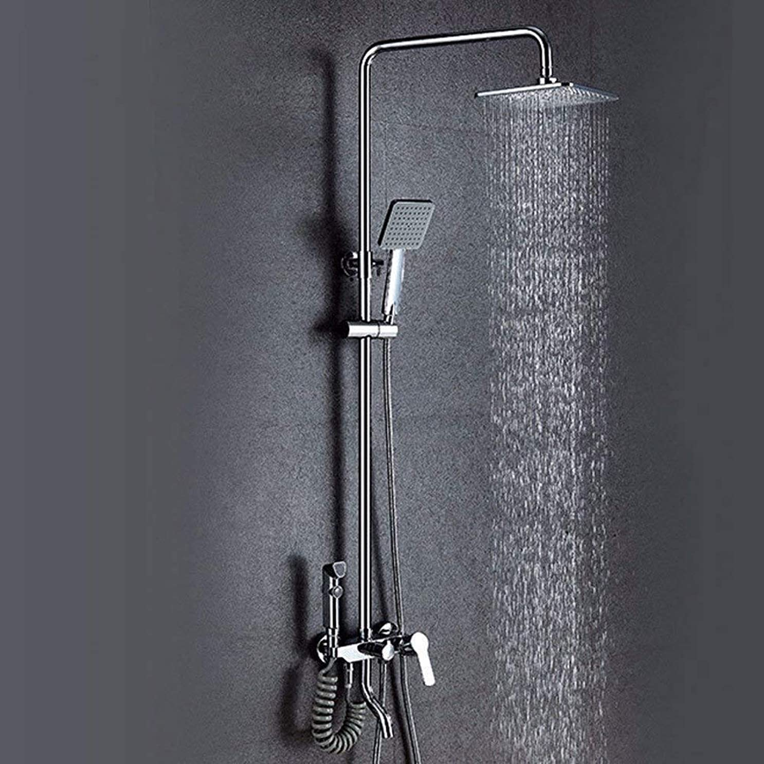 高く承知しましたルアーLuckya 水栓バス滝の蛇口浴室ミキサータップ浴室の蛇口レインシャワーセットウォールタップシャワー