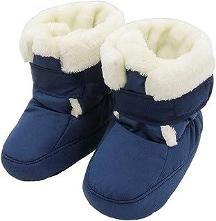 e6b553b8b5719 KVbaby Bottes Bottines Mixte bébé Chaussons Chaud Bébé Souple Chaussures  Premiers Pas Bébé 0-12
