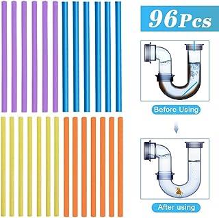 96pcs Drain Cleaner, Palillos para desagüe, Drain Sticks, Limpiador de desagües Mantiene Las tuberías de desagüe limpias y Libres de atascamientos, Elimina Olores