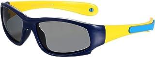Aroncent - Gafas de sol deportivas para niños, UV400, polarizadas, con diadema desmontable