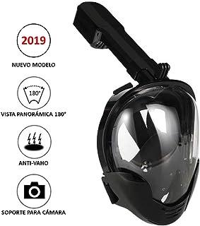 comprar comparacion Máscara de Buceo o Snorkel con visión panorámica 180°, con antivaho y Soporte para cámara