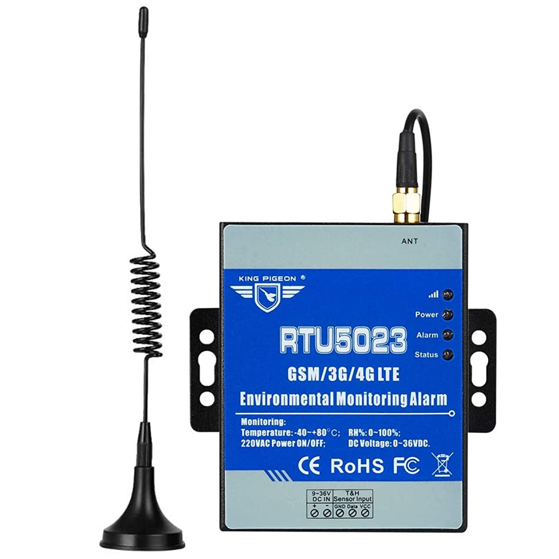 Wireless 4G Temperature Humidity Monitor Power Failure or Recover Alarm System Support Cloud Remote Monitoring RTU5023